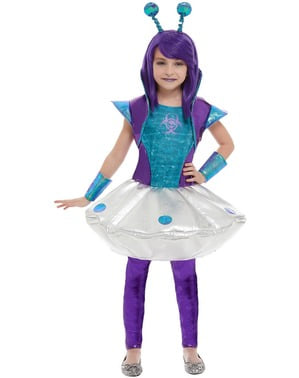 Alien Kostüm für Mädchen