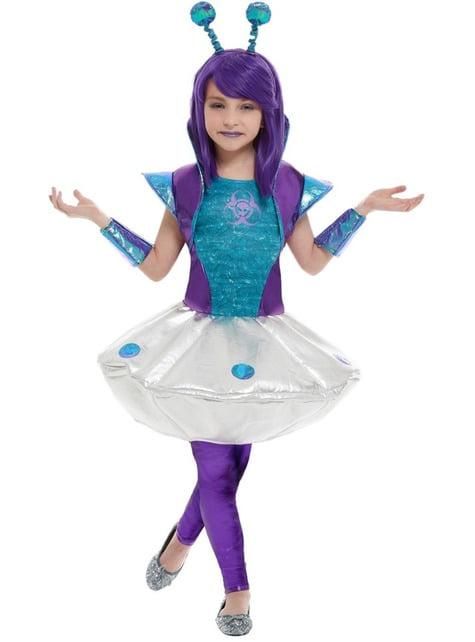Alien kostuum voor meisjes - meisjes