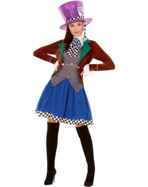 Verrückte Hutmacherin Kostüm für Damen