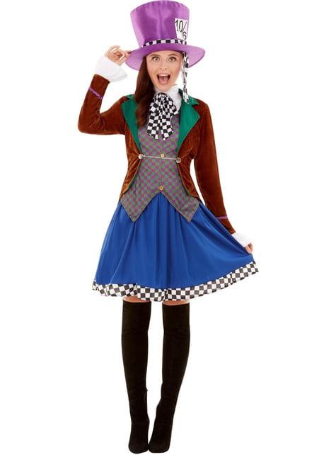 Verrückte Hutmacherin Kostüm für Damen - damen