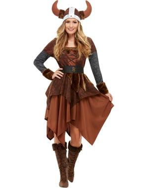 Wikingerkönigin Kostüm für Damen