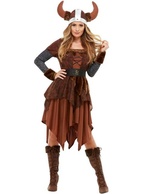 Disfraz de reina Vikinga para mujer - mujer