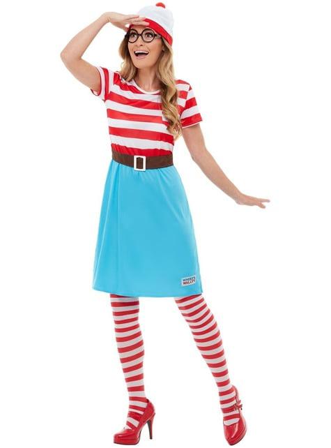 Disfraz de ¿Dónde está Wally? Wenda para mujer