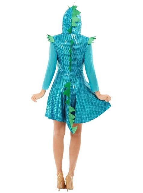 Disfraz de Dragón azul para mujer - mujer