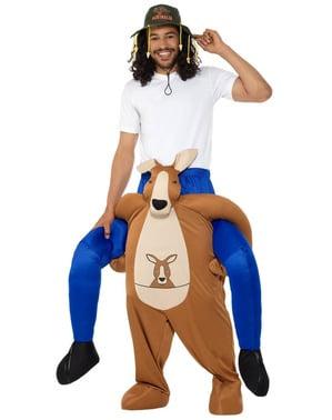 Kostým  pro dospělé jezdec na klokanovi