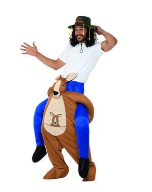 Huckepack Kostüm Känguru für Erwachsene