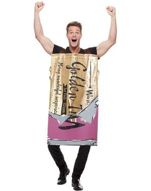 Disfraz de chocolatina Willy Wonka para adulto