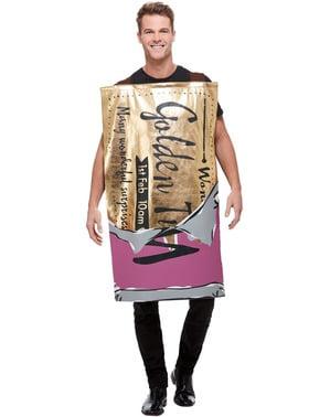 Willy Wonka chocoladereep kostuum voor volwassenen