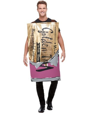 Willy Wonka Chocolate Bar Costume for Adults