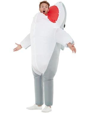 Hai Kostüm zum Aufblasen für Erwachsene