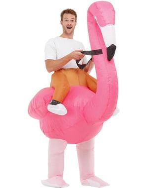 Kostum Flamingo Tiup untuk Dewasa