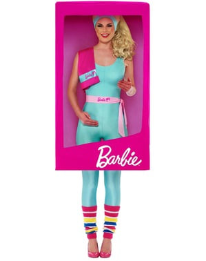 Fato de Barbie Caixa 3D para mulher