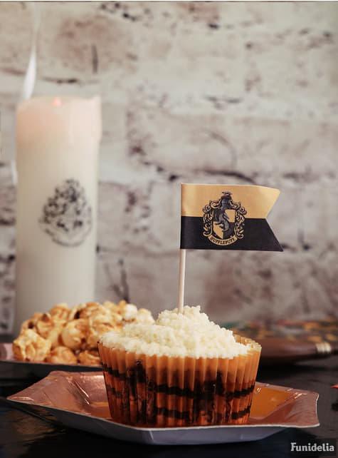 Conjunto pastelaria formas cupcake e bandeirinha - Harry Potter - Hogwarts Houses