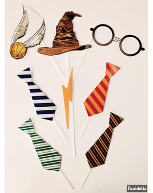 Sett med Galtvort Husene Fotoboks rekvisitt - Harry Potter