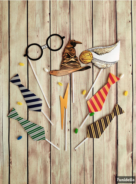 Set of Hogwarts Houses Photocall props - Harry Potter