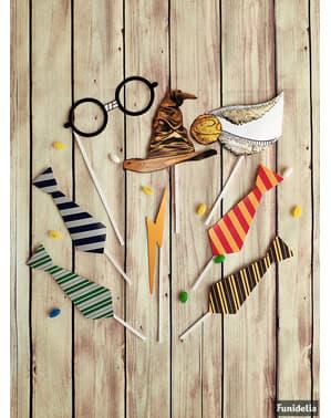 Set de accesorii pentru photobooth casele Hogwarts - Harry Potter
