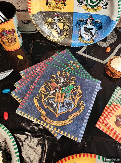 16 салфеток Гаррі Поттер (33x33 см.) - Hogwarts Houses