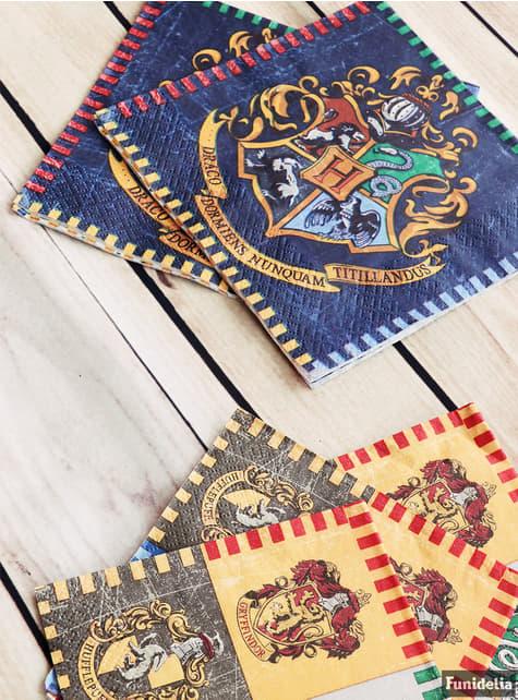 16 guardanapos Casas de Hogwart (33x33cm) - Harry Potter