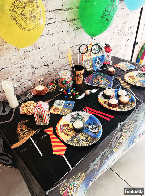 Mantel de Harry Potter - Hogwarts Houses - para tus fiestas