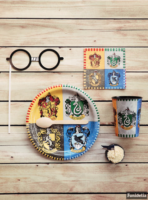 Set of 8 big Hogwarts Houses plates - Harry Potter