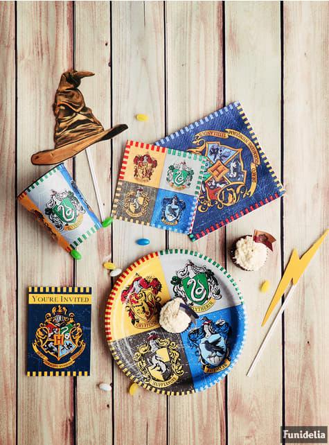 Großes Hogwarts Häuser Teller Set 8-teilig - Harry Potter