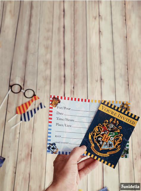 8 invitaciones Casas de Hogwarts - Harry Potter - para tus fiestas