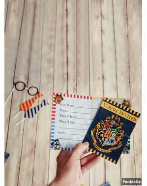 Sada 8 pozvánek Bradavické koleje - Harry Potter