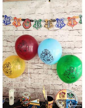 8 balões variados Casas de Hogwart (30 cm) - Harry Potter
