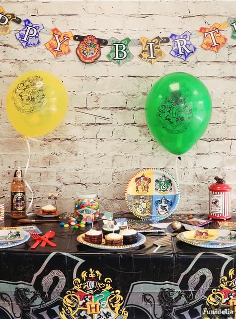 Guirnalda Happy Birthday Harry Potter - Hogwarts Houses - barato
