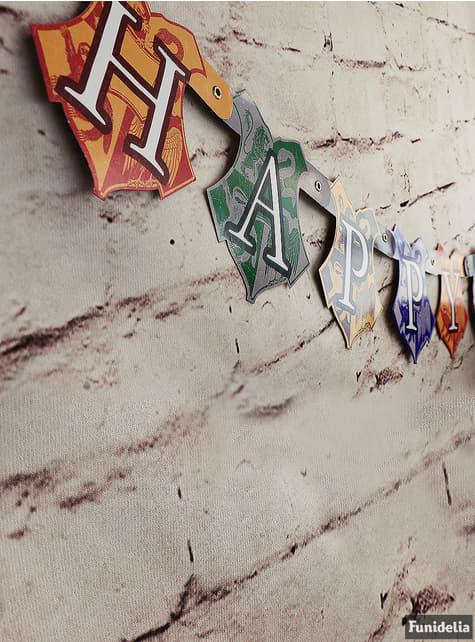 Guirnalda Happy Birthday Harry Potter - Hogwarts Houses - comprar