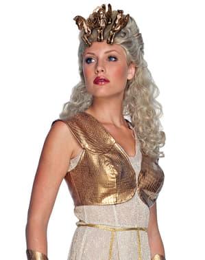 Peluca de Athenea Furia de Titanes para mujer