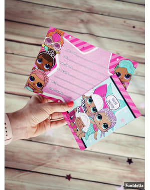 8 LOL Surprise invitations - LOL Friends