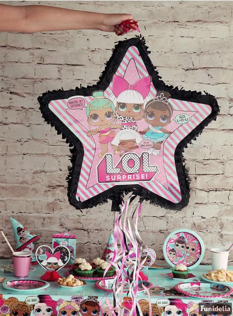 Piñata con forma de estrella LOL Surprise - LOL Friends - para tus fiestas