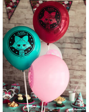 8 globos de látex LOL Surprise (47cm) - LOL Friends