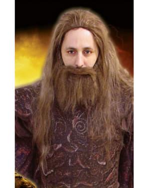 Peluca y barba de Hades Furia de Titanes para hombre