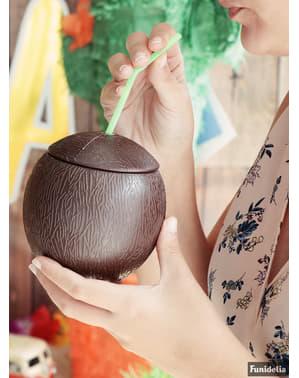 Zestaw kokos ze słomką