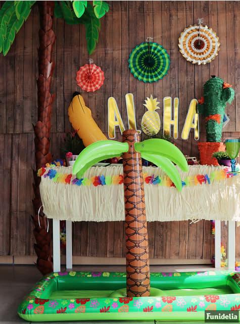 Hinchable tropical con palmera