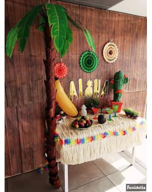Decorative Hawaiian cardboard palm tree