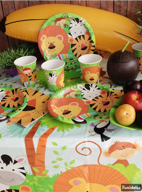 8 platos (23 cm) - Animal Jungle - para tus fiestas