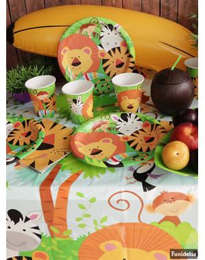 סט 8 כוסות - ג'ונגל בעלי חיים