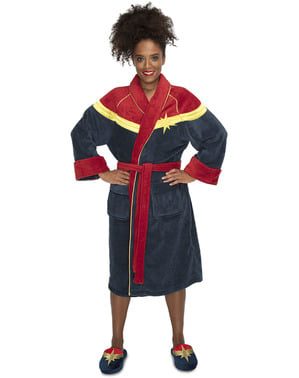 Captain Marvel Fleece Bathrobe for Women