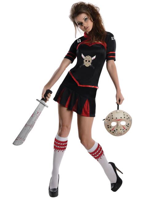 Kostium sexy cheerleaderka Piatek 13-tego damski