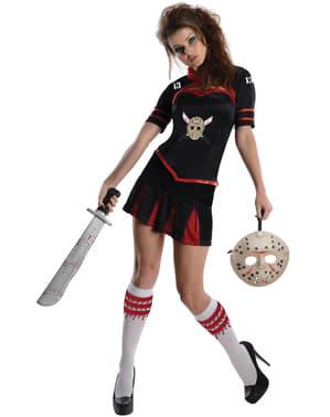 Cheerleader Kostüm für Damen sexy Freitag der 13.
