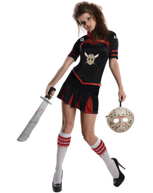 Womens Friday the 13th sexy cheerleader costume
