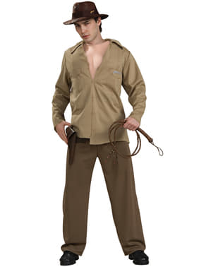 Mens muscular Indiana Jones costume