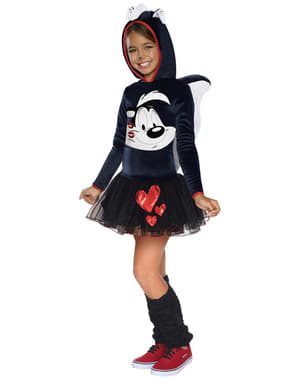 Pepé Le Pew Kostüm für Mädchen Looney Tunes
