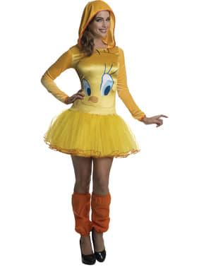 Tweety Bird Looney Tunes Kostyme Dame