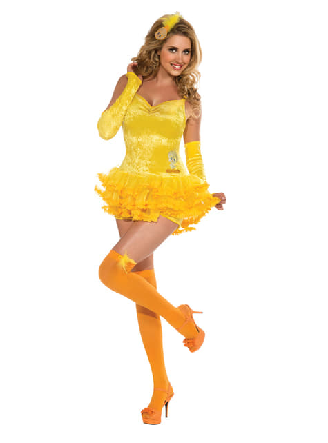 Womens sexy Tweety Bird Looney Tunes costume