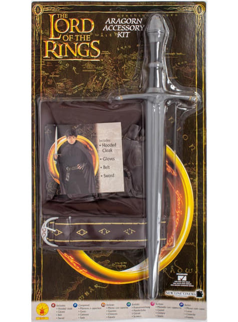Kit disfraz de Aragorn Lord of the rings para niño