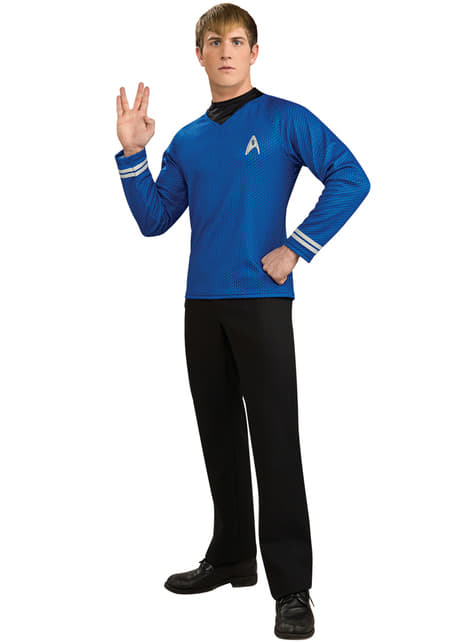 Disfraz de Star Trek azul para hombre